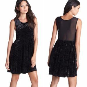 MINKPINK Velvet Babydoll Dress